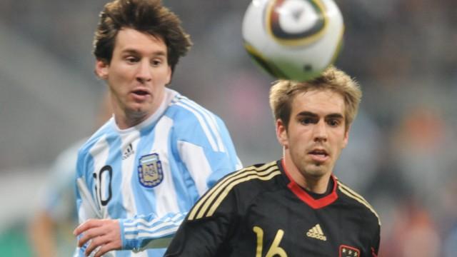 WM 2010 - Messi hofft auf Tor gegen DFB-Team