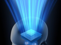Computerchip im Gehirn