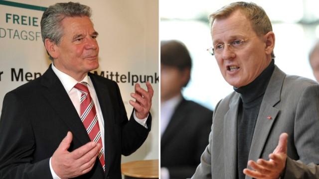 Gauck und Ramelow zu Demokratie und Regierungsfähigkeit