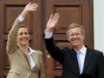 Wulff Officially Welcomed At Schloss Bellevue