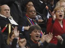 Angela Merkel WM Kapstadt Deutschland Argentinien