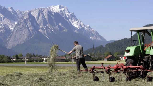 Sommer in Bayern: Landwirt bei der Arbeit, 2006