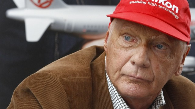 Austrian former Formula One champion Niki Lauda addresses the media during a news conference for his airline 'NIKI' in Vienna