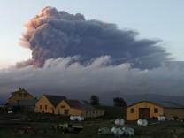 Aschewolke des Vulkans Eyjafjallajökull