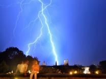 Blitzgewitter über München