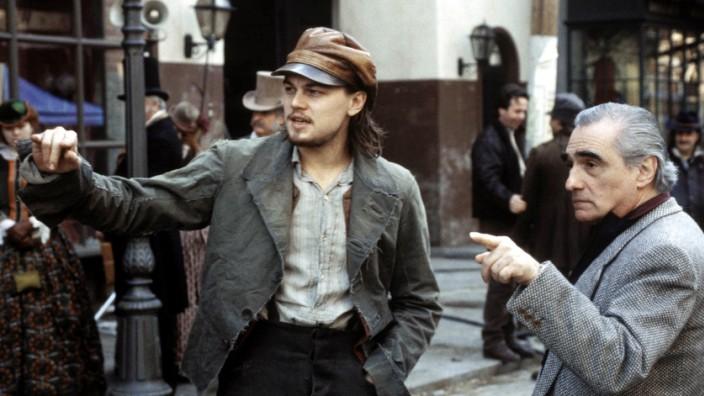 "Leonardo DiCaprio und Martin Scorsese bei den Dreharbeiten zu ""Gangs of New York"", 2002"