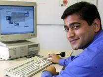 Indischer Computerspezialist in Deutschland, Inhaber der Green Card