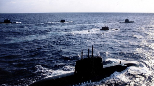 NEW DOLPHIN CLASS SUBMARINE UNDER ESCORT IN ISRAELI WATERS AS ARRIVES IN ISRAEL FROM GERMANY