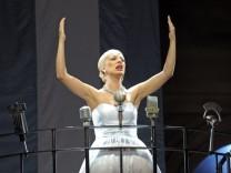 Probe für Evita in der Dresdner Semperoper