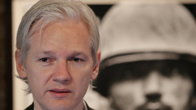 Julian Assange Hosts A Press Conference Over Afghan War Diary Leaks