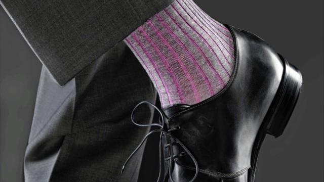 Die bunte Socke - letztes Aufbäumen des domestizierten Mannes.