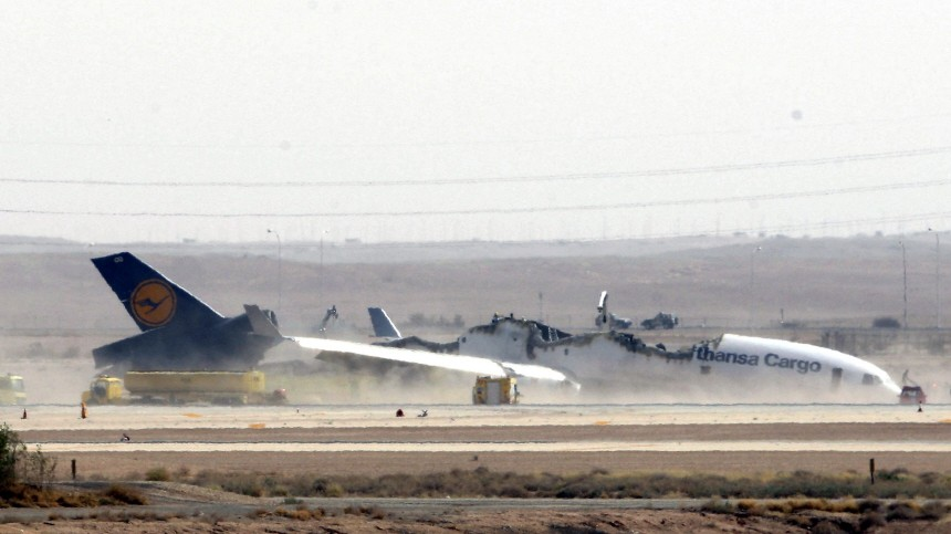 Fracht-Flugzeug der Lufthansa in Saudi-Arabien verunglückt