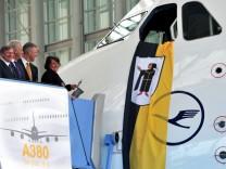 Taufe  Lufthansa-Airbus A380 auf Namen München