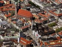 Ausblick auf Muenchens Innenstadt