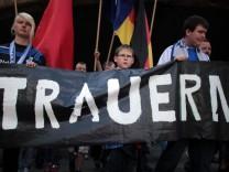 Tote bei Loveparade - Trauermarsch MSV Duisburg