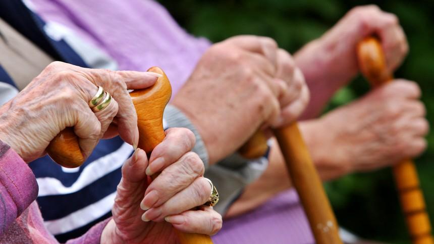 Senioren im Park -  Nullrunde für Rentner