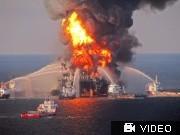 BP, Ölleck, Bohrloch; Videoflag