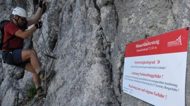 Y Set Klettersteig : Klettersteig mauerläufersteig schwierigkeiten von anfang an