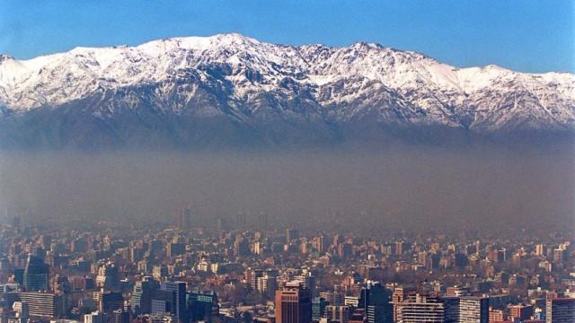 SMOG ÜBER SANTIAGO DE CHILE