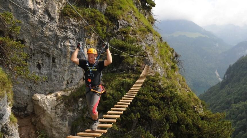 Klettersteig Grünstein : Tageskurs klettersteig am grünstein