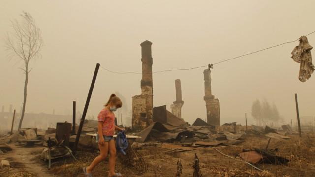 Waldbrände in Russland - Region Nischni Nowgorod