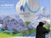 'Berge bei Foehn' als Logo fuer Muenchner Olympiabewerbung vorgestellt