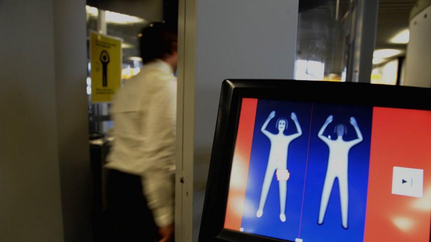 Nacktscanner Im Probebetrieb Durchleuchtet Bis Unter Die Haut