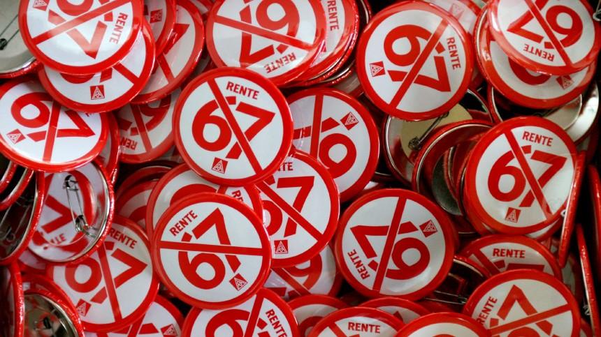 Demonstration gegen Rente mit 67