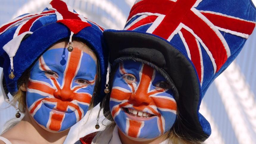 Britische Fans bei den Olympischen Spielen 2004 in Athen