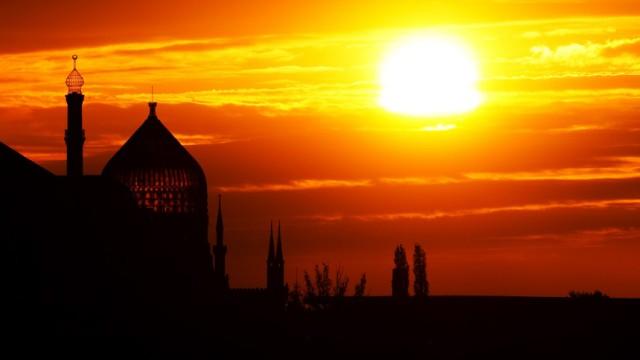 Yenidze bei Sonnenuntergang
