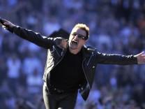 U2 spielt in Frankfurt