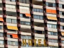 Balkone an einem spanischen Hotel