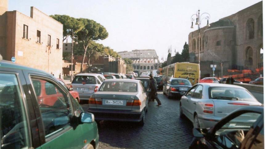 Verkehrschaos in Rom