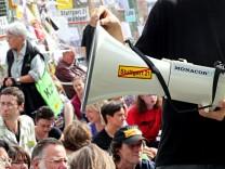 Probesitzblockade gegen Stuttgart 21