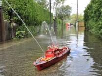 Starnberg Wassersportsiedlung Hochwasser