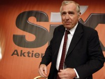 Sixt, CEO of the German car rental company Sixt AG arrives for the company's annual shareholders meeting in Munich