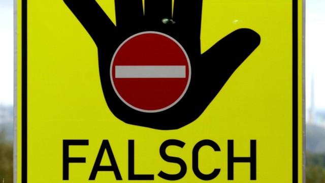 Geisterfahrer Pilotprojekt in Bayern