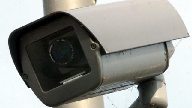 Video-Überwachungskamera am Auswärtigen Amt in Berlin, 2003