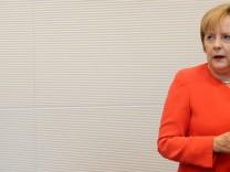 CDU/CSU Fraktionssitzung Merkel
