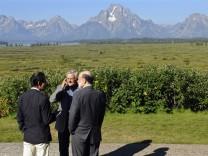 Der Japaner Masaaki Shirakawa, EZB-Präsident Jean-Claude Trichet und Fed-Chef Ben Bernanke beim letztjährigen Treffen der Notenbanker in Jackson Hole.