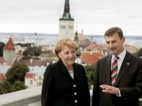 Merkel in Estland - Treffen mit Ministerpräsident Ansip