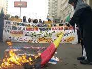 Dresdner Messerattacke auf eine  Muslimin, Proteste Karachi, Pakistan, dpa