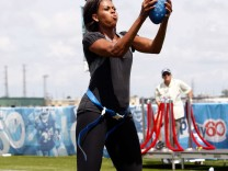 First Lady Michelle Obama Lauches Let's Move with the NFL