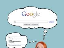 Google Frau suche nachdenken