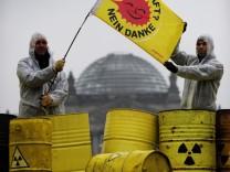 Atomprotest vor dem Reichstag