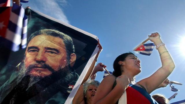 Kubaner unterstützen ihren Präsidenten